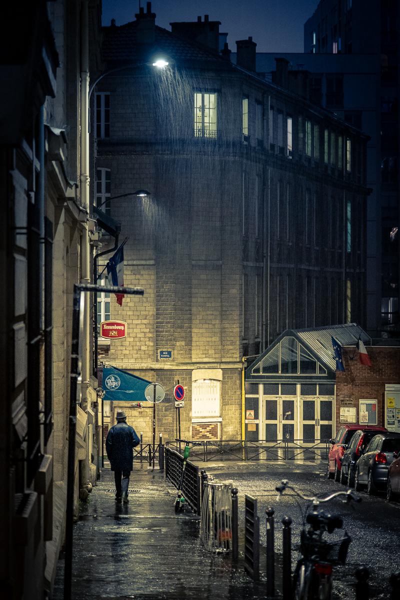 Rainy night stroll.